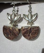 925 Sterling Silber Ohrringe Jaspis