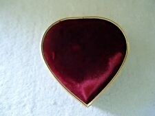 "Vintage Global Art Heart Shaped Musical Jewelry Box Plays Tune "" Love Me Tender"