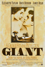 Giant James Dean Rock Hudson cult movie poster print #2