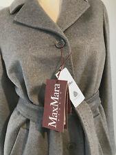 $895 Max Mara Studio Coat 12 Light Grey Sarzana Wool 12