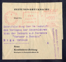 8514 Germany(Ostland),1943,Newspaper printed matter with special red machine can