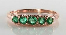 CLASSIC 9K 9CT ROSE GOLD BRAZILIAN EMERALD ETERNITY ART DECO INS RING FREE SIZE