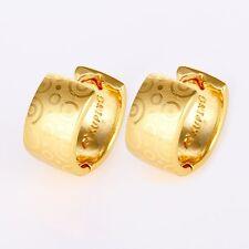 Women's Earrings Hoops 24k Yellow Gold Filled 14mm Fashion Jewelry