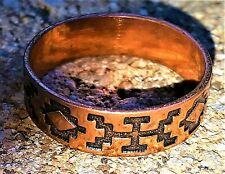 Hand Crafted Copper Ring~Native American Pattern Symbol~Healing Effect of Copper