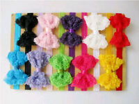10 pcs Girl Baby Toddler Flower Headband Hair Bow Band Headwear Accessories JR