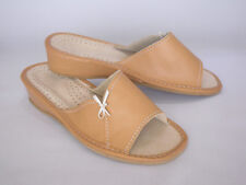 women's real leather slippers UK size 6