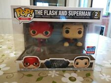 THE FLASH AND SUPERMAN 2 PACK FUNKO POP HEROES FALL CONVENTION LIMITED EDITION