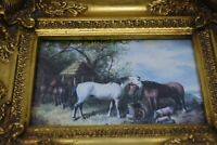 Carvers & Gilders Picture Makers Made In England Framed Horse Print