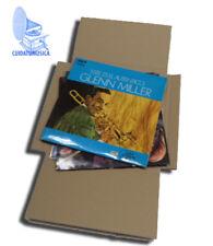 25 CAJAS DE CARTON CRUZ  ENVIO Y EMBALAJE PARA ENVIAR DE 1 A 3 DISCOS VINILO LP