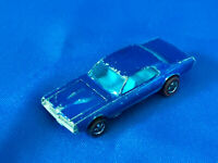 1967 Hot Wheels Redline Custom Cougar Mattel Blue Interior Car VTG Diecast Toy