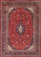 Top Quality Traditional Floral Vintage Hand-Knotted 10x13 Wool Oriental Area Rug