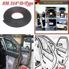 "314"" D - Shape 8M Car Motor Door Window Rubber Seal Hollow Strip Weatherstrip"
