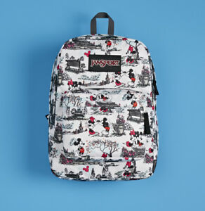 NEW DISNEY JANSPORT BACKPACK SUPERBREAK HIGH STAKES SUPER FX MICKEY MINNIE MOUSE