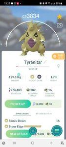 Pokemon Shiny Tyranitar Go Level 40 PVP Master League Same Day Trade Or 30 Day