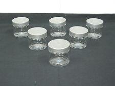 2 oz  PET Plastic Jars Travel Size Containers with Cap Lot & Color You Pick