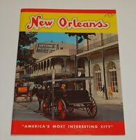 Vintage 1962 NEW ORLEANS Louisiana INTERESTING CITY Pictorial Souvenir Booklet