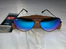 Ray-Ban Aviator Sunglasses RB3025 58mm 002/40 Black Frame Blue Gradient Lenses