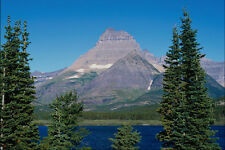 739062 Morning Reflections Of Mount Wilbur In Swiftcurrent Lake Montana USA A4 P