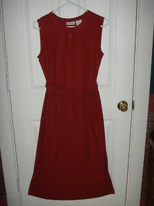 White Stag Women's sz Small Burgundy Dress Embroidered Sleeveless