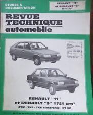 NEUF Revue technique RENAULT 9 11 1721cm3 GTX TXE GT90 ELECTRO CIP 4432 R R9 R11