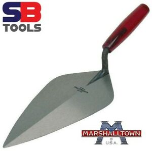 "Marshalltown M34105P Brick Trowel Wide London Pattern 10.5"" Plastic Handle NEW"