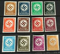 Germany 1934 3rd Reich Official Stamp Mi 132-43 Sc 80 - 91  MNH