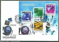 MOZAMBIQUE  2014 MINERALS  SHEET FIRST DAY COVER