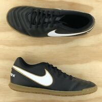 Nike Tiempo Rio III IC Black White Gold Indoor Soccer Shoes 819234 010 Size