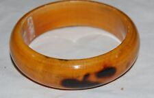 Vintage Blonde Wood Bracelet Bangle Dark Brown Spots India