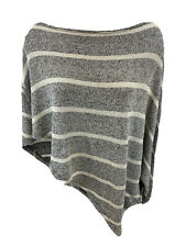 Mickey & Jenny Women's Beige/Black One Sleeve Knit Poncho Sweater Sz S