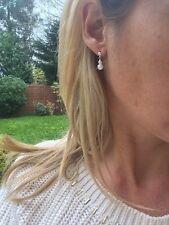 Designer Piccoli Orecchini di Perle A Goccia Nuziale Argento Sterling Piccolo borchie fatto a mano