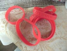 15#G-1    Red Lot of 6 Silicone Rubber Wristband Sports Authority