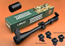 Freeship Lebo 6-24x50 SF Etched Glass Mil Dot First Focal Plane Rifle Scope