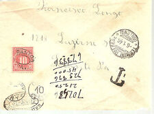 Italy  To USA Sent Unfranked   Censored  WW II  US Postage Due  1946