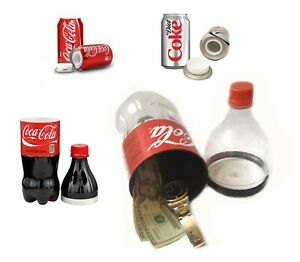 STASH CAN COKE BOTTLE DIVERSION SAFE SECRET HIDING CAR HOME FESTIVAL COLA DRINK