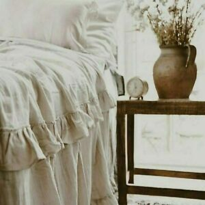 Jeanne d`Arc Living Plaid Tagesdecke beige Rüschen 130x170 cm Landhaus JDL