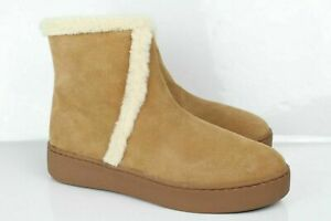Anthropologie Soludos Women's Whistler Cozy Ankle Boots Size 8.5 Honey 1000458