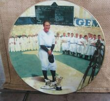 1993 DELPHI Lou Gehrig The Luckiest Man Legends of Baseball Plate w/COA