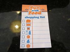 Fisher Price Fun with Food shopping list grocery smart helper shopper note pad