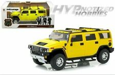 HIGHWAY 61 1:18 ENTOURAGE 2004-11 TV SERIES 2003 HUMMER H2 DIE-CAST YELLOW 18015