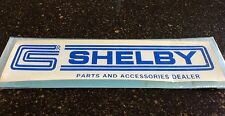 "NOS vintage CS Shelby Autosport parts & accessories ""dealer"" decal! Water-slide!"