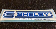 "NOS vintage CS Shelby Autosport parts & accessories ""dealer"" decal! Water-slide!"