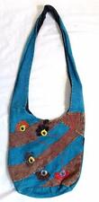 BNWT GRINGO FAIR TRADE BOHO HIPPY ETHNIC FESTIVAL COTTON FLOWER SHOULDER BAG