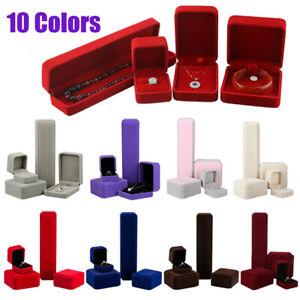 Storage Necklace/Bracelet/Ring/Pendant Jewelry Box Velvet Case Display Boxes