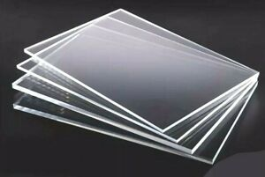 CUT TO SIZE 1MM 1.5MM 2MM & 3MM CLEAR PERSPEX® ACRYLIC PLASTIC SHEET STOCK PANEL