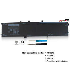 84WH Replacement Battery for Dell XPS 15 9550 Precision 5510 4GVGH 1P6KD 0T453X