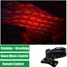 Sound Control Red LED Atmosphere Meteor Star Light Flashing Breathing Lamp Car