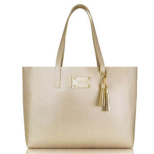 ♡BRAND NEW 100% GENUINE MICHAEL KORS GLAMOROUS GOLD CANVAS TOTE HAND BAG♡