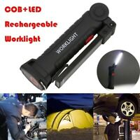 LED COB Rechargeable Magnetic Torch Flexible Inspection Lamps Cordless Worklight