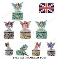 Flower Fairy Trinket Box, Keepsake, Secret, Fantasy, Celtic, Mythical, Gift New
